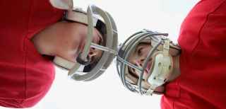 Concussion, (IN PEDIATRICS) football injuries, youth football safety, football safety tips, football kids
