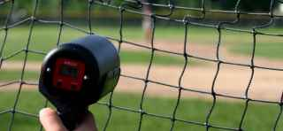 radar gun on little league pitcher